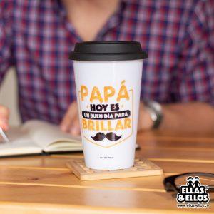 Mug para bebida calientes con dedicatoria para papá