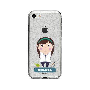 Funda para celular con diseño de bióloga