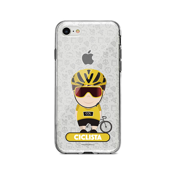 Funda para celular con diseño de ciclista