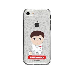 Funda para celular con diseño de enfermero