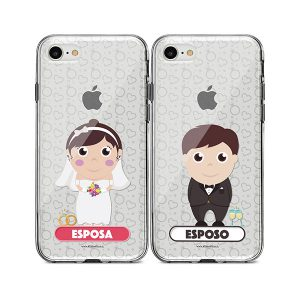 Fundas personalizadas para celular con diseño de esposos