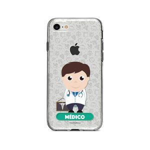 Funda para celular con diseño de médico