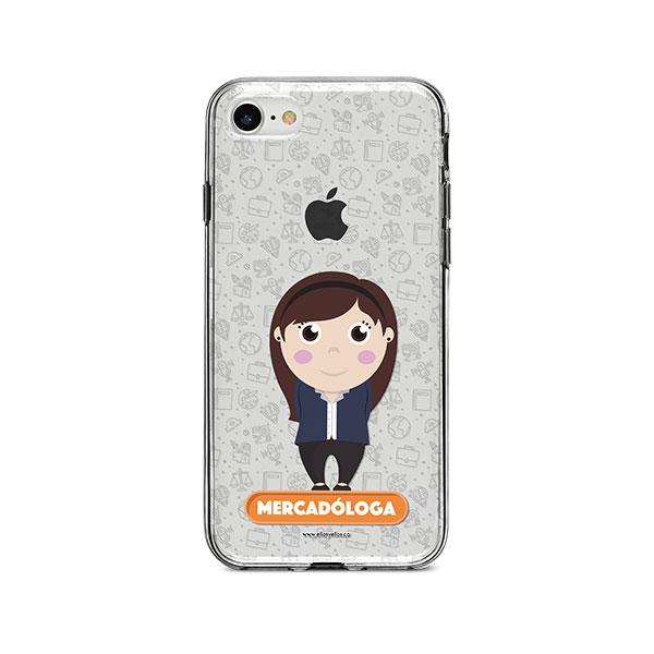 Funda para celular con diseño de mercadóloga