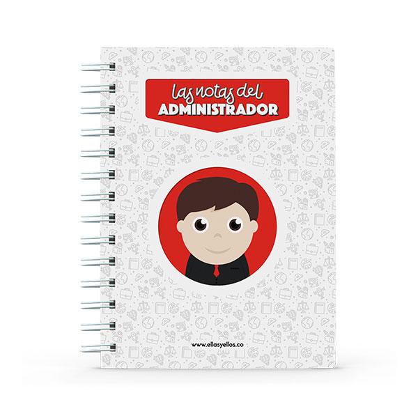 Cuaderno pequeño con diseño de admin