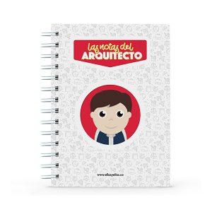 Cuaderno pequeño con diseño de arquitecto