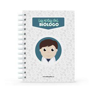 Cuaderno pequeño con diseño de biólogo