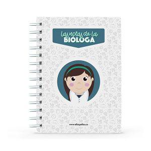 Cuaderno pequeño con diseño de bióloga