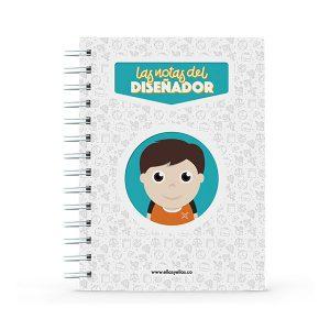 Cuaderno pequeño con diseño de diseñador gráfico