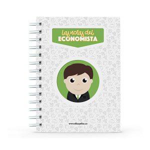 Cuaderno pequeño con diseño de economista