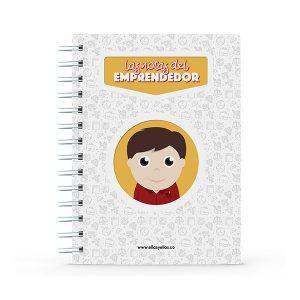 Cuaderno pequeño con diseño de emprendedor