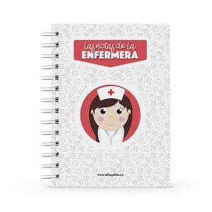 Cuaderno pequeño con diseño de enfermera
