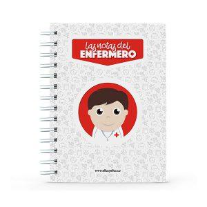 Cuaderno pequeño con diseño de enfermero