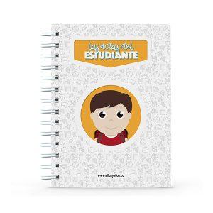 Cuaderno pequeño con diseño de estudiante
