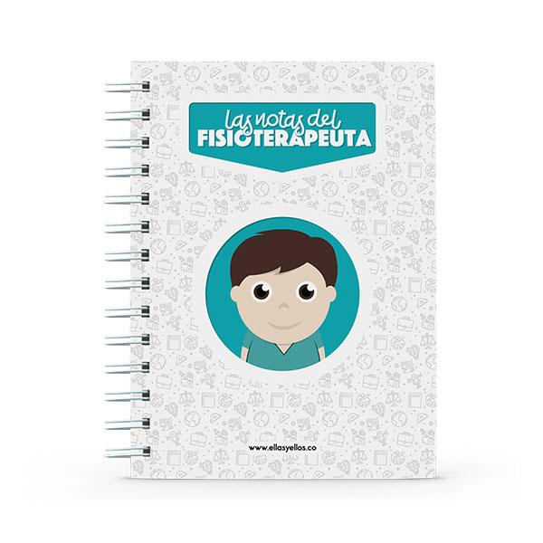Cuaderno pequeño con diseño de fisioterapeuta