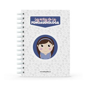 Cuaderno pequeño con diseño de Fonoaudióloga