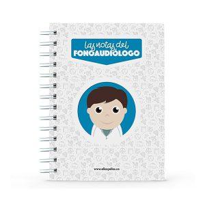Cuaderno pequeño con diseño de fonoaudiólogo
