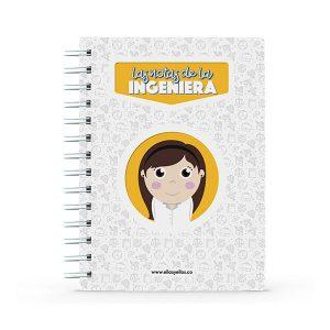 Cuaderno pequeño con diseño de ingeniería