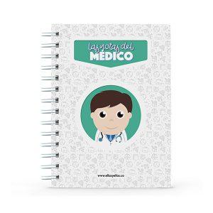 Cuaderno pequeño con diseño de médico
