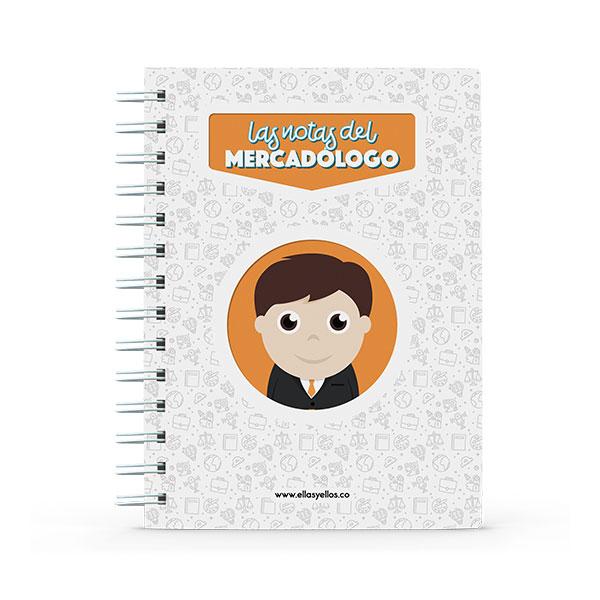 Cuaderno pequeño con diseño de mercadólogo