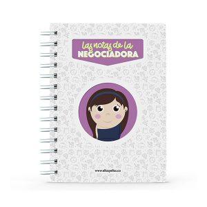 Cuaderno pequeño con diseño de negociante