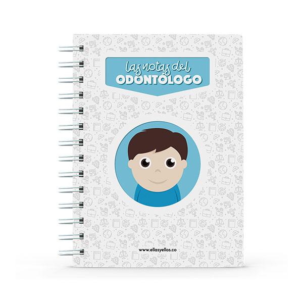 Cuaderno pequeño con diseño de odontólogo