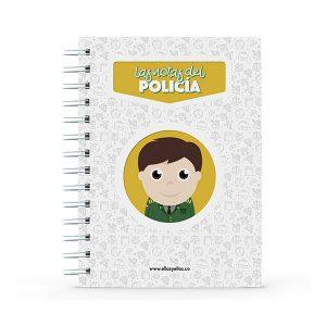Cuaderno pequeño con diseño de policía
