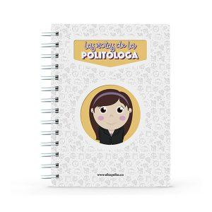 Cuaderno pequeño con diseño de politóloga