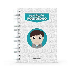 Cuaderno pequeño con diseño de politólogo