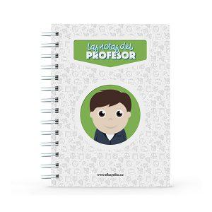 Cuaderno pequeño con diseño de profesor