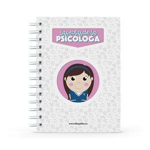 Cuaderno pequeño con diseño de psicóloga