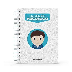 Cuaderno pequeño con diseño de psicólogo