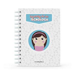 Cuaderno pequeño con diseño de tecnóloga