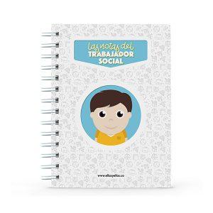 Cuaderno pequeño con diseño de trabajador social