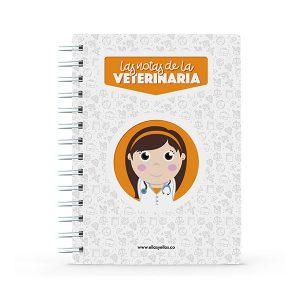 Cuaderno pequeño con diseño de veterinaria