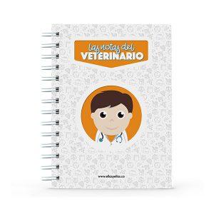 Cuaderno pequeño con diseño de veterinario