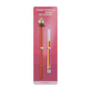 kit de lapicero con diseño de ardilla