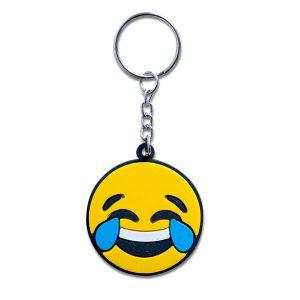 Llavero en forma de emoji con cara de risas