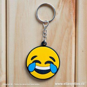 Llavero en forma de emoji riendo