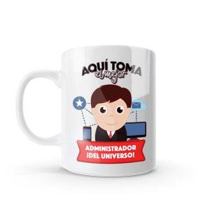Mug con diseño para administradores
