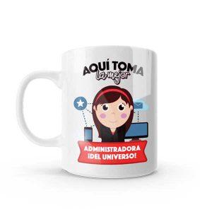 Mug con diseño para administradora