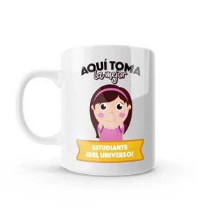 Mug pocillo con diseño de estudiante