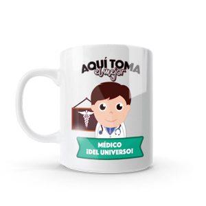 Pocillo Mug con diseño de médico