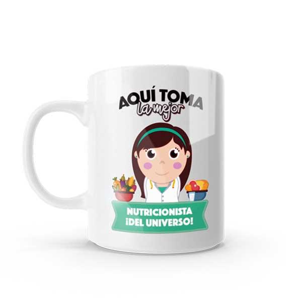 Pocillo Mug con diseño de nutricionista