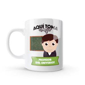 Mug pocillo con diseño de profesor