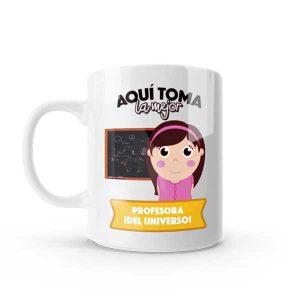 Mug pocillo con diseño de profesora