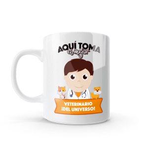 Mug pocillo con diseño de veterinario