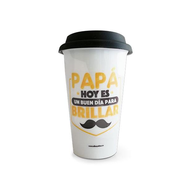 Mug para bebidas calientes con mensaje de papá