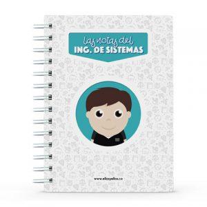 Cuaderno pequeño con diseño de ingeniero de sistemas