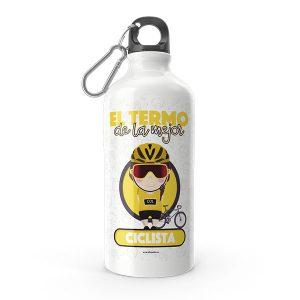 Termo de agua con diseño de ciclista