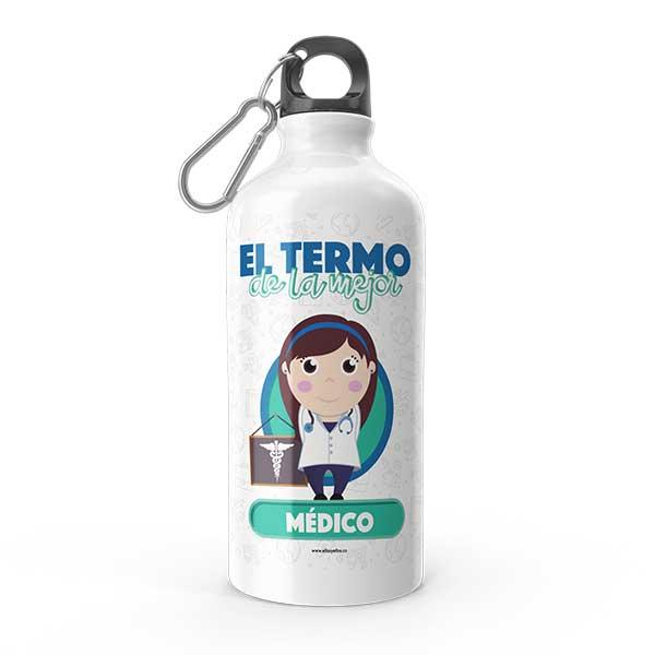 Termo de agua con diseño de médica